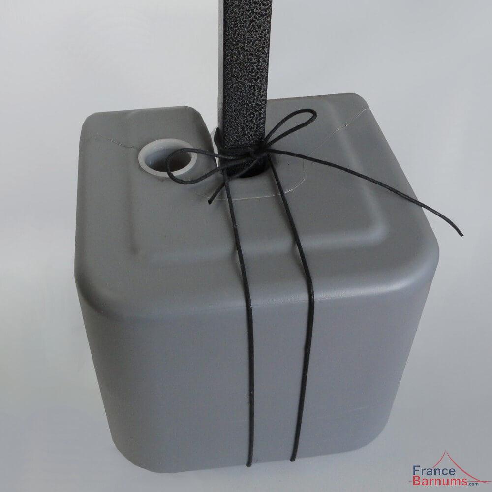 lot de 4 poids plastique remplir pour stand pliant. Black Bedroom Furniture Sets. Home Design Ideas
