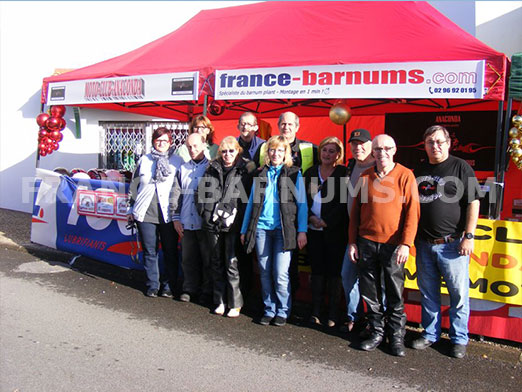 Tente parapluie 3x6m rouge France-Barnums par Moto Club Anaconda