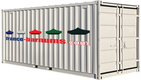 Image container pour commande barnums gros volume