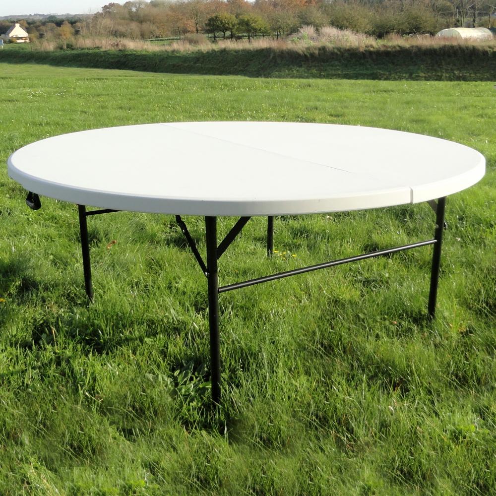 Table de r ception ronde de 160cm pliante en valise - Table de reception pliante ...