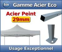 Barnum Acier Eco : Usage exceptionnel - Section carrée de 29mm - Epaisseur d'acier de 0,6mm - Bâche de toit 150gr/m²