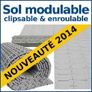 Découvrez notre sol modulable clipsable et enroulable : le plancher technique indispensable pour tous vos événements !
