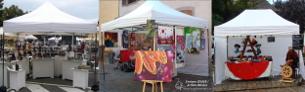 Tivoli - Tente easy up d'exposition - Stand pour les marchés et foires expositions - Tonnelle pour fêtes - France-barnums.com