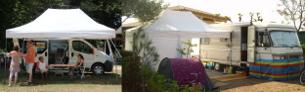 Tente de Camping - Abri pliant pour Campings-cars et Mobilhomes - Tente pour festivités - Tonnelle de jardin - Stand de Loisirs - France-barnums.com