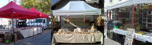 Tente de marché - Stand de salon - Parasol forain - Tente d'exposition - France-Barnums.com