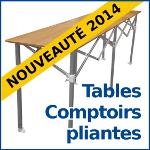 Découvrez nos tables comptoirs pliantes réglables sur 3 niveaux, faciles et rapides à monter !