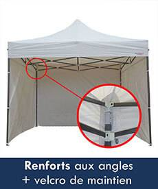 renforts aux angles + velcro de maintien