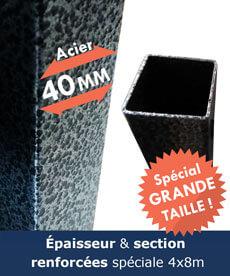section acier de 1,5mm avec peinturer anti-corrosion