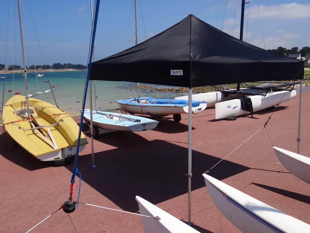 Tente pliante Alu Pro M2 de 3mx3m France-Barnums port blanc