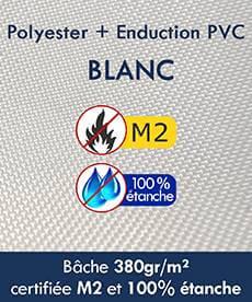 Notre tente pliante Alu pro a une bâche certifée M2 100% étanche