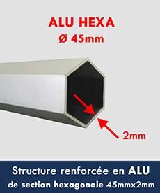 Notre tente pliante Alu pro à une structure renforcée en alu diamètre 45mmx2mm
