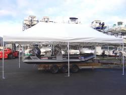Barnum pliant 4x8m Aluminium Pro 55 normalisé anti-feu M2 abri bateau à paimpol