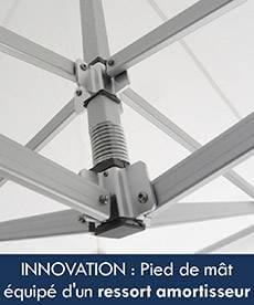 Notre tente pliante Alu pro 55 bénéficie d'une innovation technique ressort amortisseur de mât