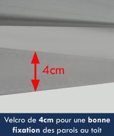 Velcro de 4cm pour la fixation des parois sur le toit