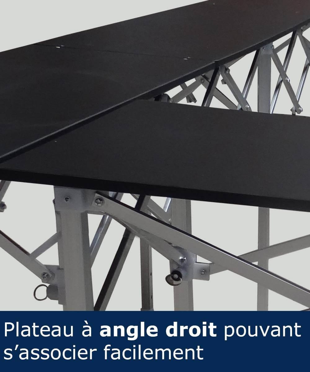 Plateau en bois stratifié noir de la table comptoir France-barnums.com