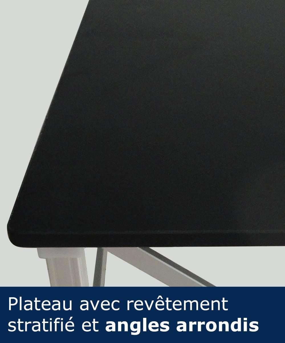 Angles arrondis de la table comptoir