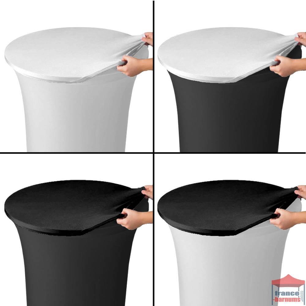 top noir housse de plateau pour table de r 233 ception haute ou mange debout