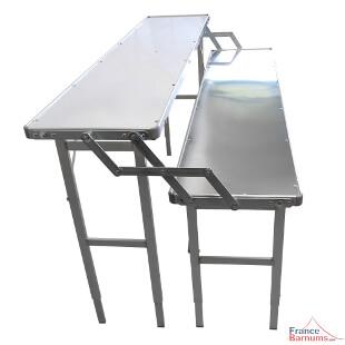 Etalage forain en aluminium pour marché ou expositions