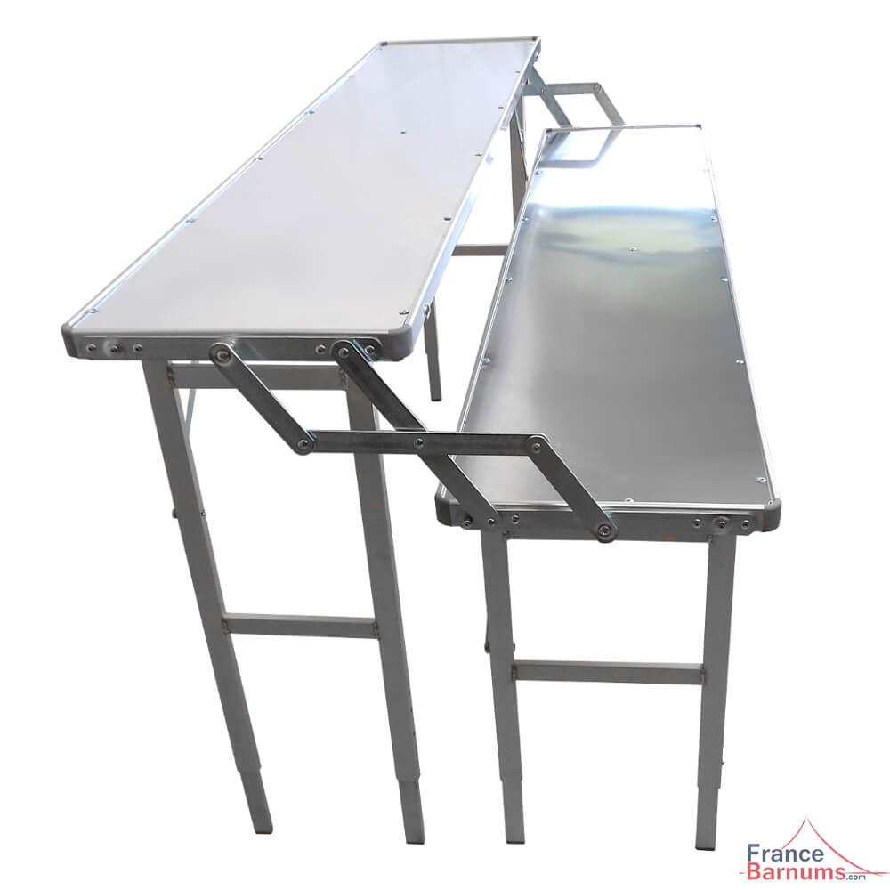 Table pr sentoir pliante deux niveaux en aluminium de 1 for Table pliante pour studio