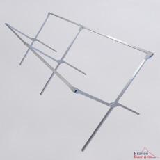 La structure de notre présentoir de marché à clayette est entièrement en aluminium