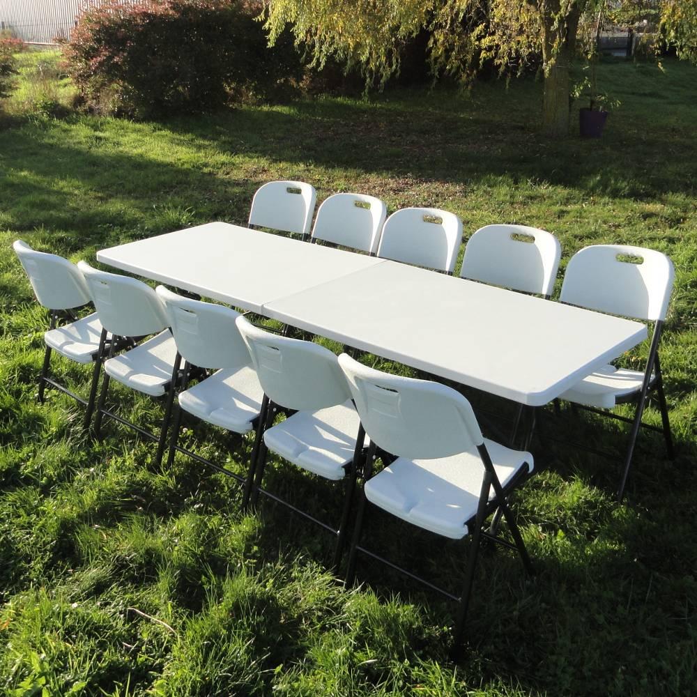 Table de r ception rectangulaire de 244cm pliante en valise for Air france assistance chaise roulante