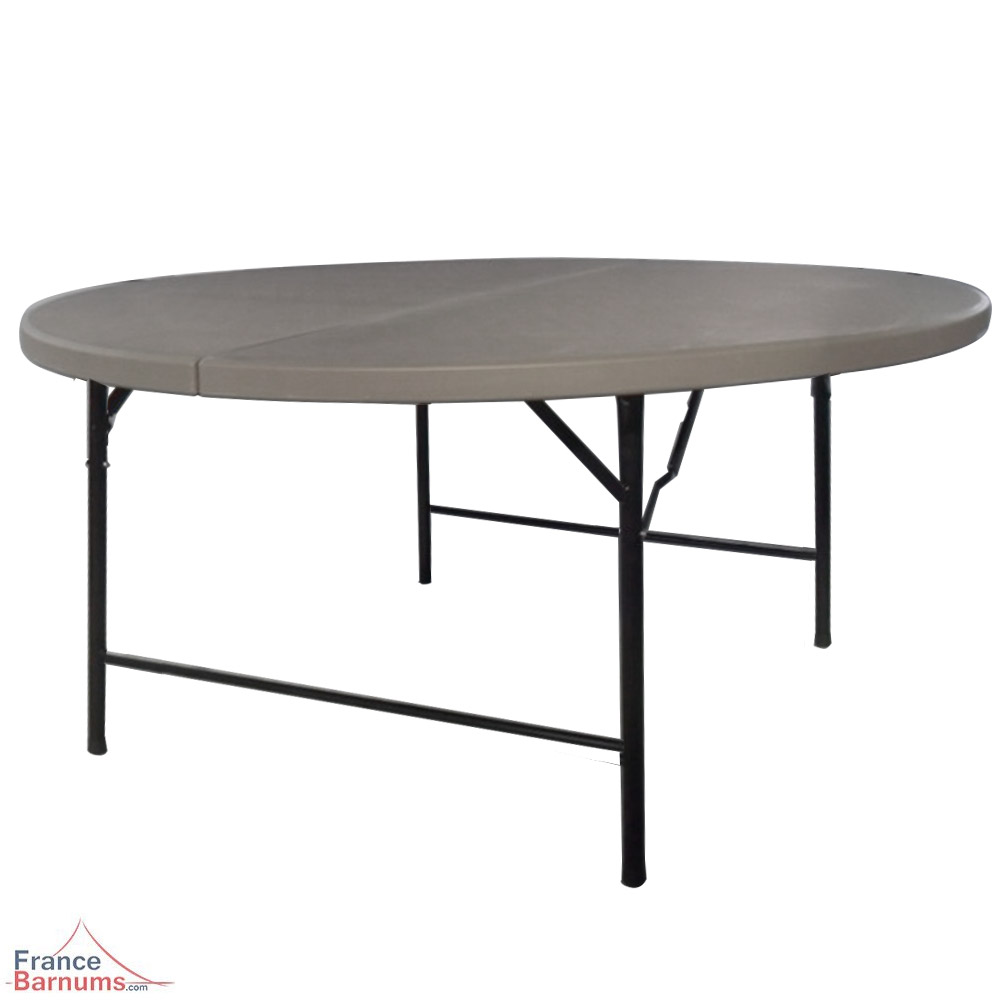 table ronde rabattable great table plastique pliante ronde en polythylne renforc d cm with. Black Bedroom Furniture Sets. Home Design Ideas