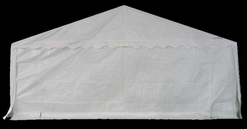 Pignon fermé de notre tente de réception - chapiteau événementiel ECO de 6m x 6m avec Tubes de 38mm