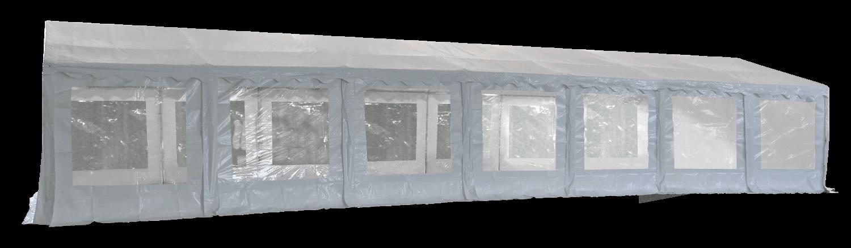 Vue latérale de notre tente de réception - chapiteau événementiel de 6m x 14m avec Tubes de 50mm