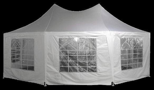 Partie vitrée de notre tente de réception chapiteau octogonal France-Barnums.com