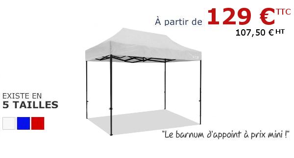 Abri pliant d'appoint à petit prix sur France-Barnums.com