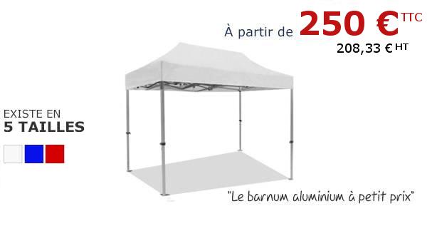 Tente pliante alu à partir de 250€ sur sur France-Barnums.com