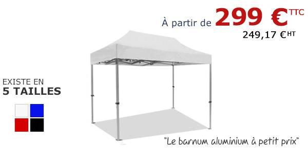 Tente pliante alu à partir de 285€ sur sur France-Barnums.com