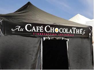 Banderole publicitaire café chocolaté