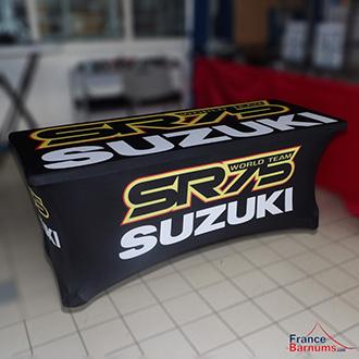 housse de table imprimée pour stand suzuki