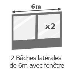 Inclus dans votre colis : Notre Barnum ACIER SEMI PRO de 3x6m est livré avec ses 4 parois latérales (offert).