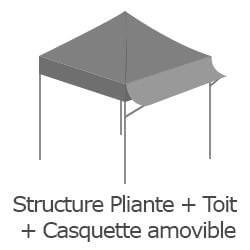 Inclus dans votre colis : Notre Barnum ACIER SEMI PRO de 3x3m est livré avec sa structure pliante et sa bâche de toit avec casquette et son pack 4 côtés