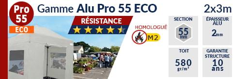 Barnums pliants - Tentes pliantes Alu Pro 55 ECO M2 2m x 3m