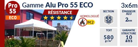 Barnums pliants - Tentes pliantes Alu Pro 55 ECO M2 3m x 6m