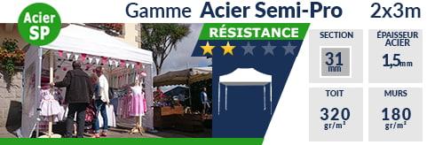 Barnum Pliant - Tonnelle Acier Semi Pro 2mx3m
