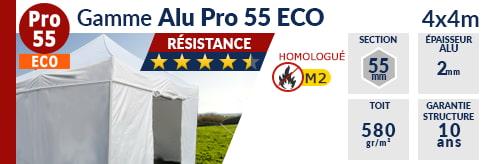 Barnums pliants - Tentes pliantes Alu Pro 55 ECO M2 4m x 4m