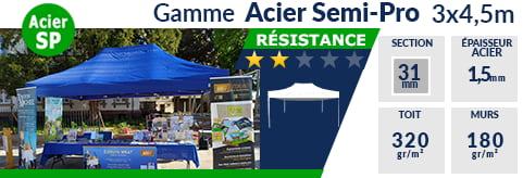 Barnum pliant - Tonnelle Acier Semi Pro 3mx4,5m