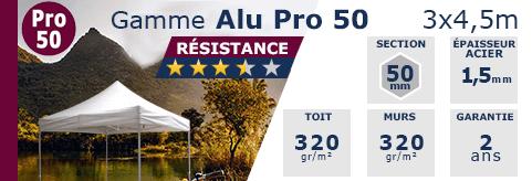 Barnum Pliant - Tente pliante Alu Pro 50 3x4,5m