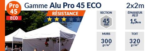 Barnum Pliant - Tente pliante Alu Pro 45 ECO 2mx2m