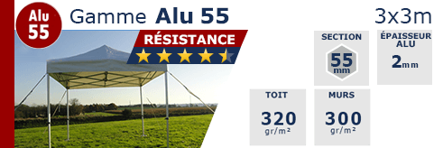 Barnums pliants aluminium- ALU 55