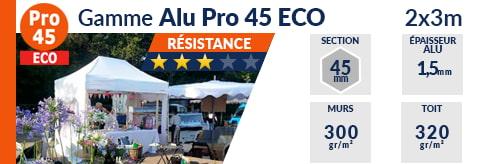 Barnum Pliant - Tente pliante Alu Pro 45 ECO 2mx3m