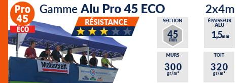 Barnum Pliant - Tente pliante Alu Pro 45 ECO 2mx4m