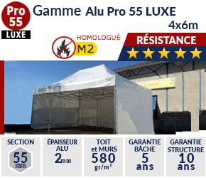 Barnums Pliants Aluminium Pro 55 LUXE M2 4mx6m