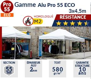 Barnums pliants - Tentes pliantes Alu Pro 55 ECO M2 3m x 4,5m