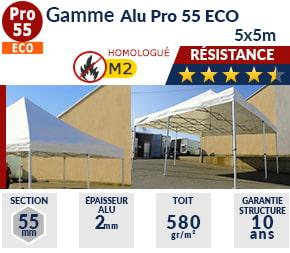Barnums pliants - Tentes pliantes Alu Pro 55 ECO M2 5m x 5m