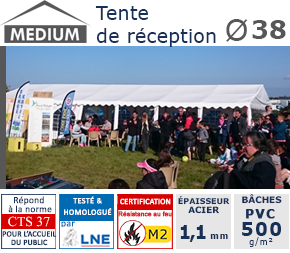 Tente de reception 38mm